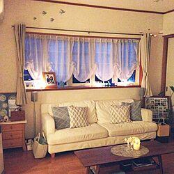 リビング/夜/2014.8.4/フレンステッド•モビール/白いソファ...などのインテリア実例 - 2014-08-04 16:05:37