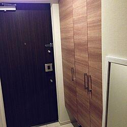玄関/入り口/シンプル/シューズボックス/狭い玄関のインテリア実例 - 2014-05-11 21:58:48