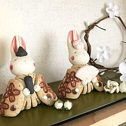 新入り/ウサギのお雛様/イベント参加/2020.2.23/ひな祭り...などのインテリア実例 - 2020-02-23 20:26:13