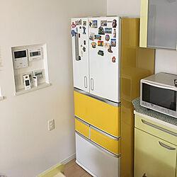 キッチン/冷蔵庫のマグネット/冷蔵庫リメイクのインテリア実例 - 2017-11-23 01:05:01