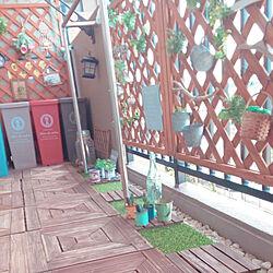 玄関/入り口/ベランダ/グリーンのある暮らし/マンション暮らし/雑貨...などのインテリア実例 - 2019-06-18 09:26:53