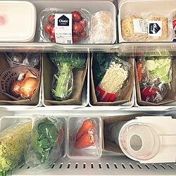 キッチン/野菜が好き♡/ダイソー/野菜室収納/冷蔵庫...などのインテリア実例 - 2017-12-01 19:24:06