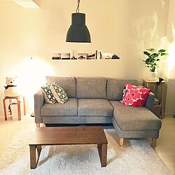 リビング/これで床にも座れる/IKEAのソファー/ローテーブル/アイボリー...などのインテリア実例 - 2018-10-07 22:53:38