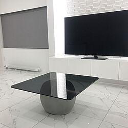 センターテーブル/タイル床/エコカラットプラス/有機EL 4Kテレビ/リビングのインテリア実例 - 2019-10-17 23:55:09