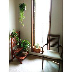階段を上がったところ/チェアー/雑貨/植物/サンキャッチャーのインテリア実例 - 2013-07-09 09:03:51