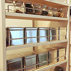 キッチン/キッチンの収納/リメイクシート木目調/セリア 缶/IKEA 雑貨...などのインテリア実例 - 2018-04-05 15:21:16