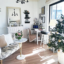 リビング/クリスマス/インテリア/クリスマスツリー/マンション暮らし...などのインテリア実例 - 2019-11-15 18:09:44
