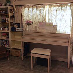 机/ピアノ周り/社宅/カラーボックス リメイクのインテリア実例 - 2014-12-15 13:52:27