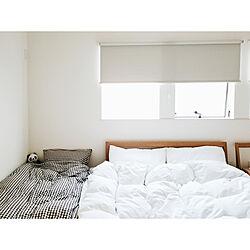 ベッド周り/無印良品/洗いざらしの綿/白/白いシーツ...などのインテリア実例 - 2019-02-01 08:14:56