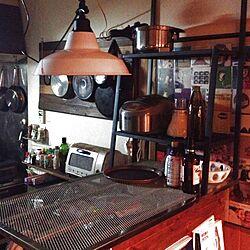 キッチン/IKEA/DIY/シーリングライトのインテリア実例 - 2013-03-28 17:08:13
