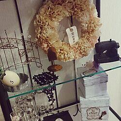 棚/アイアン塗料/ダイソー/ryocoちゃんからの素敵便/mogutinしゃん♡...などのインテリア実例 - 2014-10-21 10:09:15