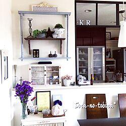 キッチン/スターチス/フレンチ/ドライフラワー/飾り棚DIY...などのインテリア実例 - 2017-03-26 20:05:48
