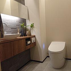 バス/トイレ/やめたこと/2階水回り/観葉植物のある暮らし/間接照明...などのインテリア実例 - 2021-06-03 17:28:49