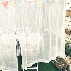 玄関/入り口/ガーランド/カーテン/ガーデンテーブル/椅子...などのインテリア実例 - 2016-04-03 07:12:49