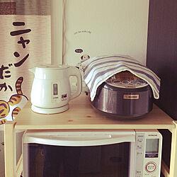 キッチン/無印良品/炊飯器置き場/炊飯器のインテリア実例 - 2018-05-03 16:35:44