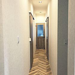 廊下スペース/リノベーション/中古住宅リノベーション/照明/玄関/入り口...などのインテリア実例 - 2021-05-10 13:09:00