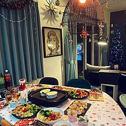 海外インテリアに憧れる/ダイニング/クリスマス/クリスマスディスプレイ/照明...などのインテリア実例 - 2019-12-17 05:00:14