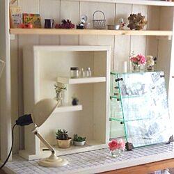 リビング/DIYタイル/庭のお花/DIY棚/DIYのインテリア実例 - 2013-06-09 16:09:58