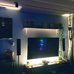 リビング/LED照明/LEDライト/テレビ周り/ポトス...などのインテリア実例 - 2017-12-19 09:10:25