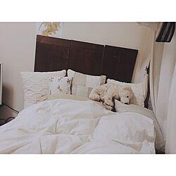 ベッド周り/シングルベッド/テディベア/クッション/無印良品...などのインテリア実例 - 2016-05-12 01:12:27