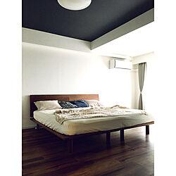 ベッド周り/天井クロス/ベッド/無印良品/無印良品ベッドのインテリア実例 - 2018-07-13 08:21:39