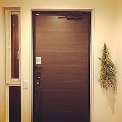 玄関/入り口/ミモザのスワッグのインテリア実例 - 2018-03-02 11:51:32
