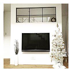 リビング/ホワイトインテリア/リース/室内窓/アイアン...などのインテリア実例 - 2016-11-30 16:27:21
