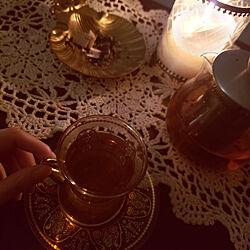 リビング/アンティーク/チャイグラス/レトロ/teatime...などのインテリア実例 - 2020-09-02 21:10:24