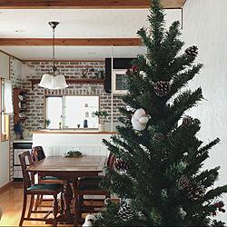 クリスマスディスプレイ/タイル壁/イギリスアンティーク/腰板/シンプル...などのインテリア実例 - 2020-12-12 12:22:00
