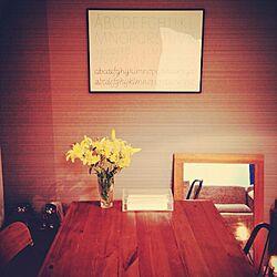 壁/天井/古材×アイアン/古材/ポスター/100均...などのインテリア実例 - 2014-11-30 20:18:55