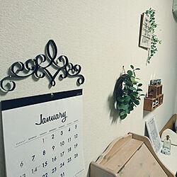 壁/天井/トイレットペーパーの芯/カレンダー/セリア/手作り...などのインテリア実例 - 2019-01-22 22:03:21