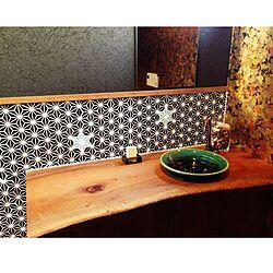 壁/天井/一枚板/名古屋モザイクタイル/IKEA/和風 インテリア...などのインテリア実例 - 2014-12-19 12:42:15