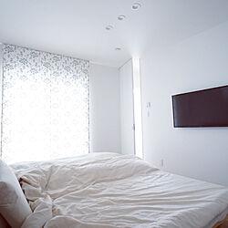 ベッド周り/無印良品ベッド/壁掛けテレビ/寝室のインテリア実例 - 2019-11-02 15:50:05