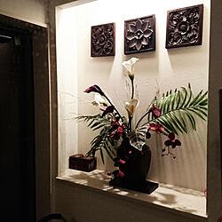 玄関/入り口/アジアンテイスト/バリ雑貨/初投稿のインテリア実例 - 2017-07-22 23:44:37
