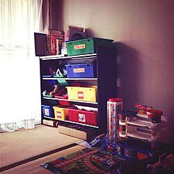 棚/団地/生活感/おもちゃ 収納/子供部屋のインテリア実例 - 2013-08-26 06:28:42