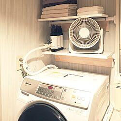 バス/トイレ/洗濯機上の棚/扇風機/一人暮らし/DIY...などのインテリア実例 - 2017-07-08 19:02:37