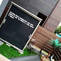 玄関/入り口/男前/ステッカー/ブルックリン/セリア...などのインテリア実例 - 2019-07-20 15:47:30