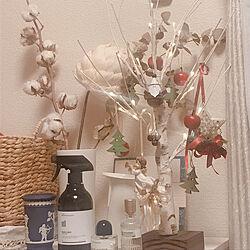 机/オーナメント/クリスマスツリー/クリスマス/シラカバツリー...などのインテリア実例 - 2018-12-07 23:50:16