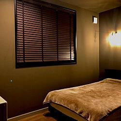 ライティング/ベッドルームの壁/寝室の壁/薄暗ルーム/カーキ...などのインテリア実例 - 2020-07-02 22:48:40