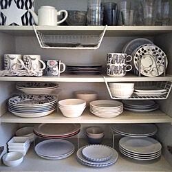 キッチン/キッチン収納/北欧食器/食器棚/食器の収納...などのインテリア実例 - 2018-05-16 21:21:01