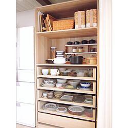 キッチン/パントリー/収納/IKEA/見せる収納...などのインテリア実例 - 2017-05-09 19:48:34