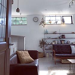 テーブル DIY/ペンダントライト/リビング/ドライフラワー/シンプルな暮らし...などのインテリア実例 - 2018-10-08 10:08:12