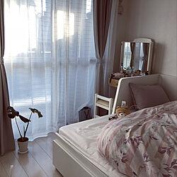ベッド周り/モンステラ/IKEA/ニトリ/1LDK...などのインテリア実例 - 2018-11-06 22:09:09