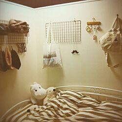 ベッド周り/壁紙屋本舗/ペンキ/4畳半のインテリア実例 - 2015-04-02 20:33:25