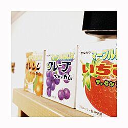 棚/雑貨/お菓子/ガム/上に写ってるのはハリーポッターの杖のインテリア実例 - 2014-08-09 19:38:56