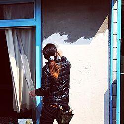 玄関/入り口/DIY女子/外壁/ブルー&ホワイト/カリフォルニアインテリアに憧れる...などのインテリア実例 - 2017-03-29 13:23:02