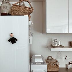 冷蔵庫/見せる収納/掃除/断捨離中/整理整頓...などのインテリア実例 - 2021-05-08 12:19:57