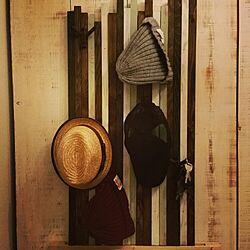 玄関/入り口/ニット/ニット帽/キャップ/収納...などのインテリア実例 - 2015-12-02 20:51:34