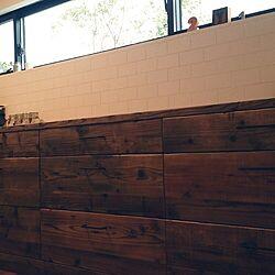 キッチン/家作り/漆喰壁/オーダー家具/足場板のインテリア実例 - 2016-06-19 20:37:46