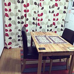キッチン/IKEA/ニトリのカーテン/ランチョンマット/ニトリのインテリア実例 - 2014-02-25 19:40:41